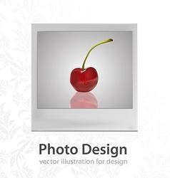 Modern polaroid design vector
