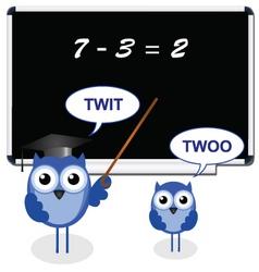 owl teacher twit vector image vector image