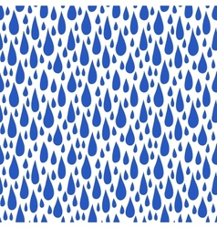 Pattern with rain drops in royal blue vector image