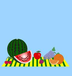 still life consisting of ripe fruits vector image