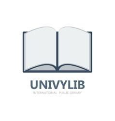Book logo or symbol icon vector image vector image