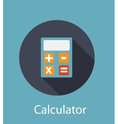 Calculator Flat Concept Icon vector image vector image