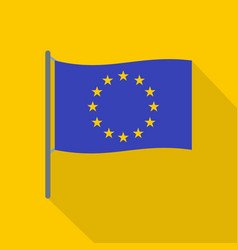 european flag icon flat style vector image vector image