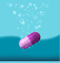 medical capsule drop water bubble vector image