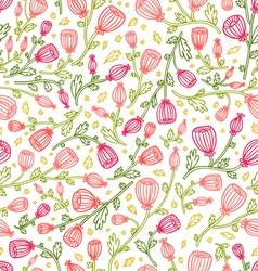 Pink daisies pattern vector image vector image