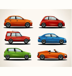 set of realistic vehicles vector image