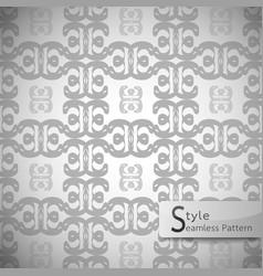 Flower monochrome lattice vintage geometric vector