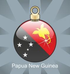 Papua guinea flag on bulb vector image