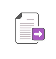 arrow documents files pages right icon vector image vector image