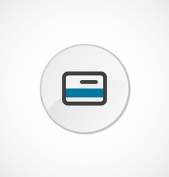 credit card icon 2 colored vector image