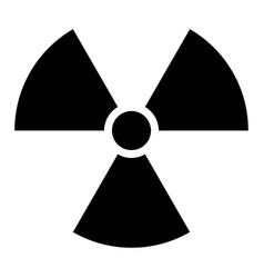 ionising radiation sign attention danger symbol vector image