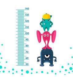 meter wall or height meter from 50 to 140 vector image