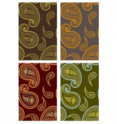 paisley backgrounds vector image vector image