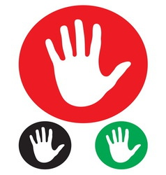 Stop hand sign vector image vector image