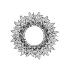 Vintage round frame sun zentagle style vector image vector image