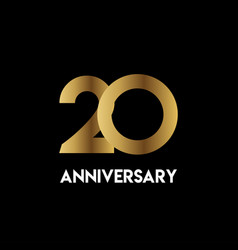 20 year anniversary simple template design vector