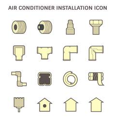 20190414 air conditioner icon 4 red vector