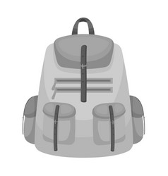 a backpack for thingstent single icon in vector image