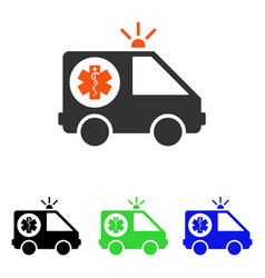 Ambulance car flat icon vector