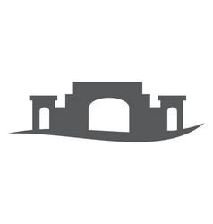ancient building vector image