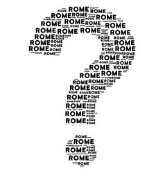 answer composition of rome texts vector image