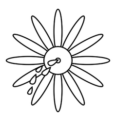 April fools day flower icon outline style vector image