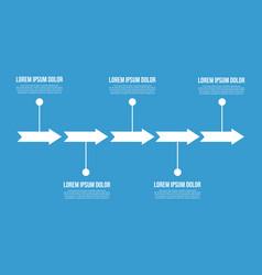 Arrow chart business infogaraphic design vector