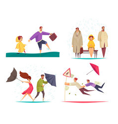 Bad weather concept compositions vector