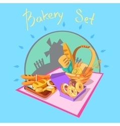 Bakery cartoon concept vector