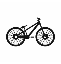Bike icon simple style vector