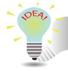 bulb idea concept template vector image