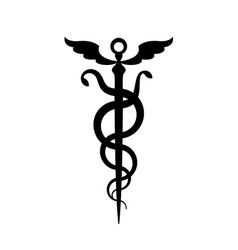 caduceus mercurys staff vector image