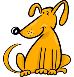 Cartoon doodle of funny dog vector