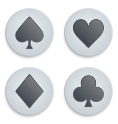 Casino simple icon card suits vector