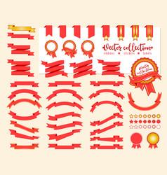 collection decorative design elements vector image