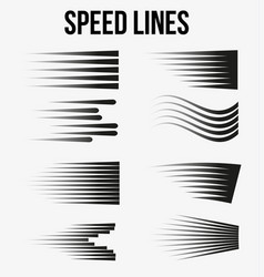 comic book design element speed lines vector image