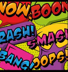 Comic pop art speech bubble vector