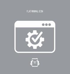 Computer setup flat icon vector