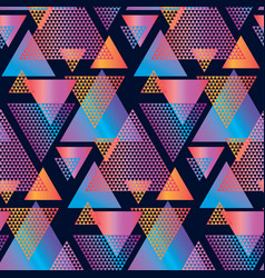 concept triangle geometric seamless pattern vector image