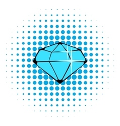 Crystal icon comics style vector