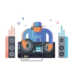 DJ character music vector