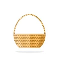 Empty woven basket vector