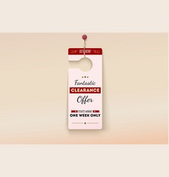 fantastic clearance offer tag vector image