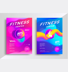 fitness center flyer vector image