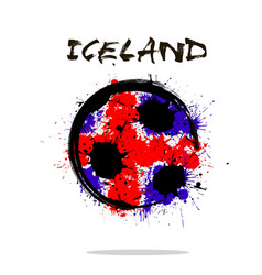 Flag of iceland as an abstract soccer ball vector
