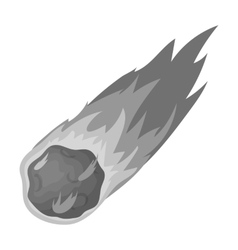 Flame meteorite icon in monochrome style isolated vector