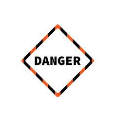 flat yellow hazard warning symbol warning icon vector image