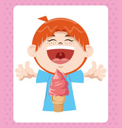 happy birthday celebration party smiling boy vector image