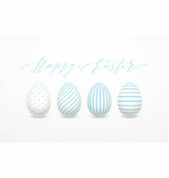 happy easter egg lettering on the background with vector image