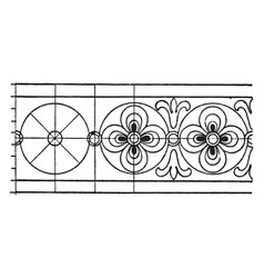 latin evangeliarum rosette band is an 8th century vector image